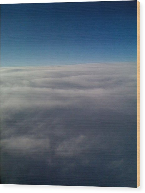 Above The Clouds Wood Print by Veronica Trotter