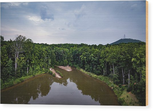 Above The Lake Wood Print