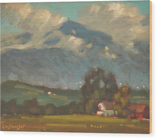 Above Toporowski Farm Wood Print