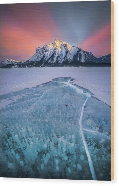 Abraham Lake Splendor // Alberta  Wood Print