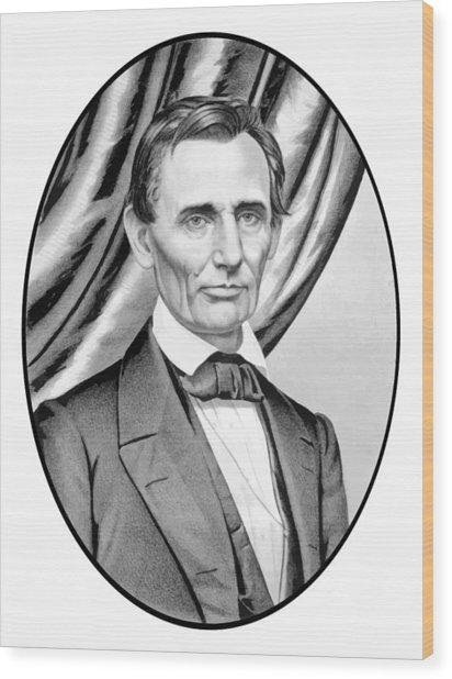 Abraham Lincoln Circa 1860 Wood Print