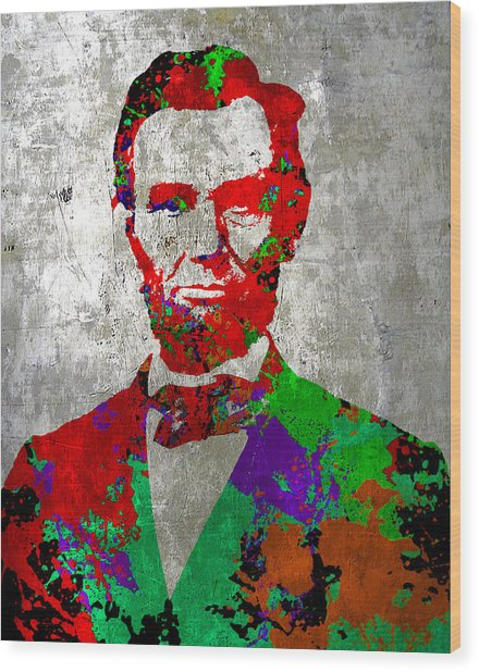 Abraham Lincoln On Silver - Amazing President Wood Print