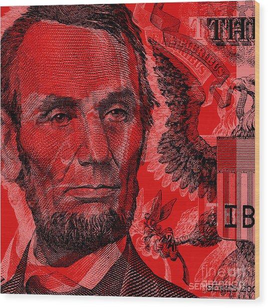 Abraham Lincoln Pop Art Wood Print