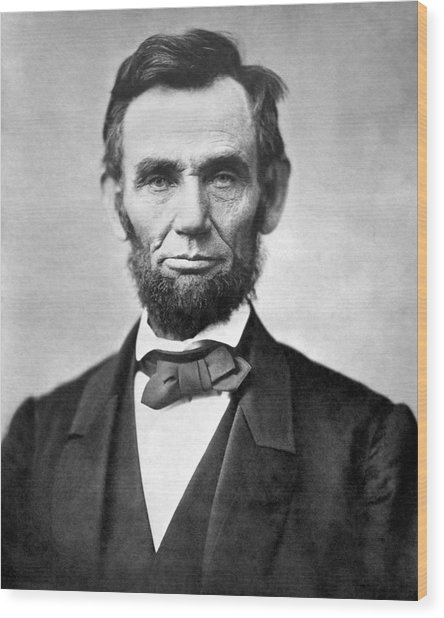 Abraham Lincoln Portrait - 1863 Wood Print