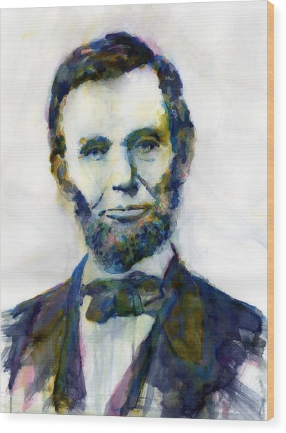 Abraham Lincoln Portrait Study 2 Wood Print