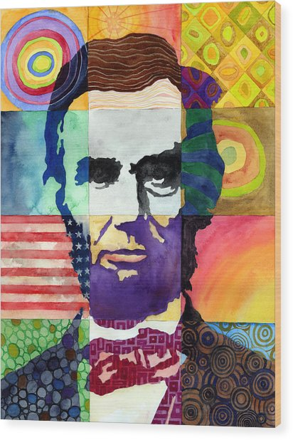 Abraham Lincoln Portrait Study Wood Print