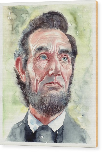 Abraham Lincoln Portrait Wood Print