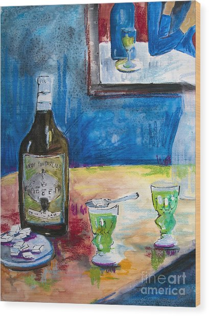 Absinthe For Two Wood Print
