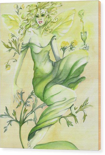Absinthe-the Green Fairy Wood Print