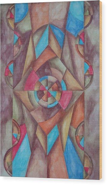 Abstract 1 Wood Print by Jason McRoberts