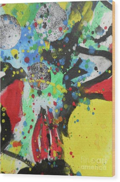 Abstract-1 Wood Print