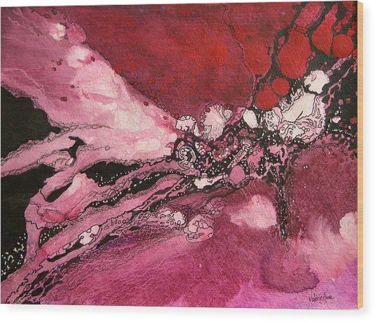 Abstract 10 Wood Print by Valerie Aune