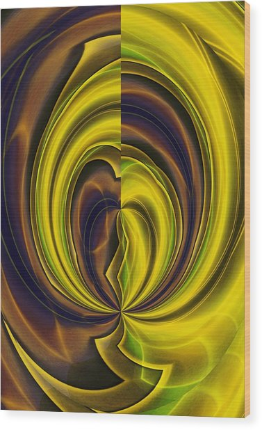 Abstract 121510 Wood Print