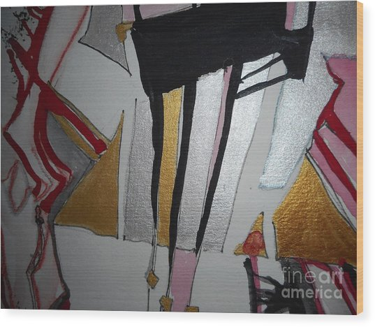 Abstract-13 Wood Print