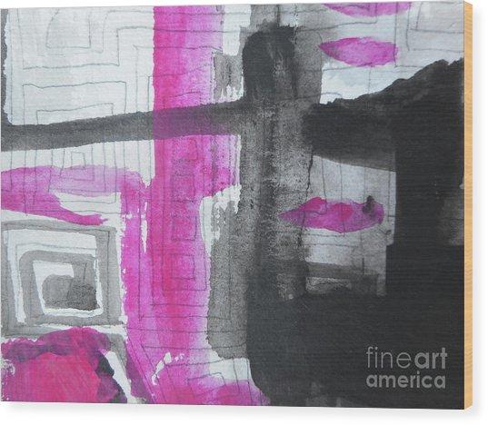 Abstract-15 Wood Print