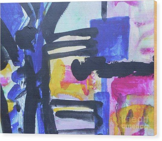 Abstract-16 Wood Print