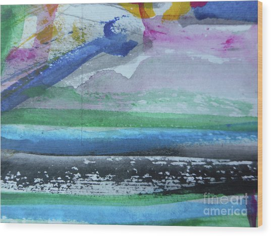 Abstract-18 Wood Print