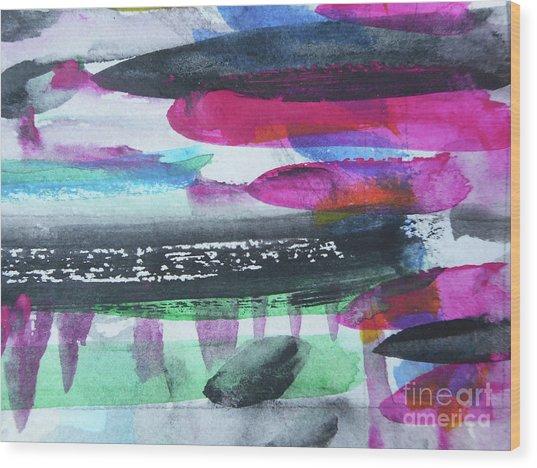 Abstract-19 Wood Print