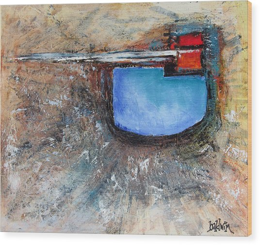Abstract 200112 Wood Print