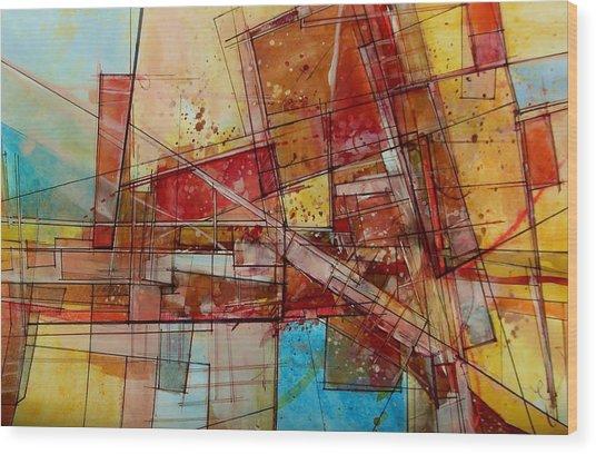 Abstract #240 Wood Print