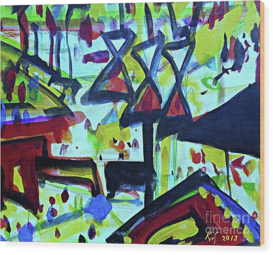 Abstract-27 Wood Print