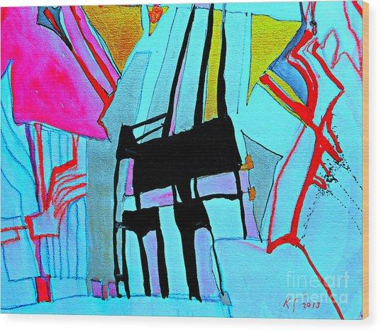 Abstract-28 Wood Print