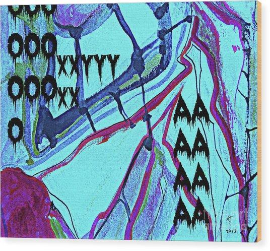 Abstract-29 Wood Print