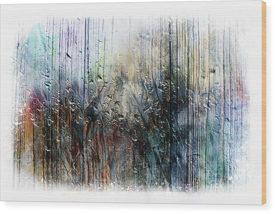 2f Abstract Expressionism Digital Painting Wood Print
