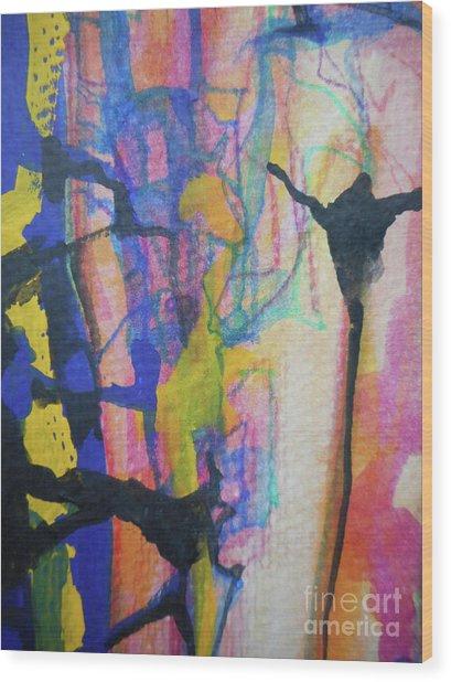 Abstract-3 Wood Print