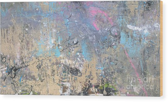 Abstract #42115a Wood Print