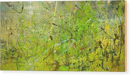Abstract #42515b Or Marsh Life Wood Print