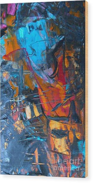 Abstract #42715b Wood Print