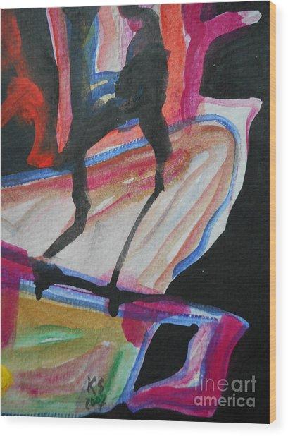 Abstract-5 Wood Print