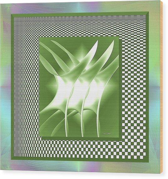 Abstract 54 Wood Print