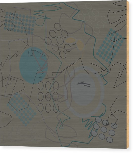 Abstract 8 Brown Wood Print