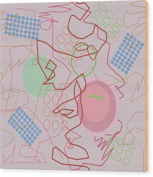 Abstract 8 Pink Wood Print