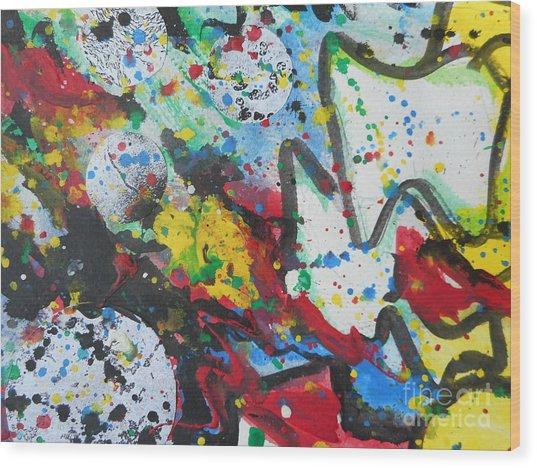 Abstract-9 Wood Print