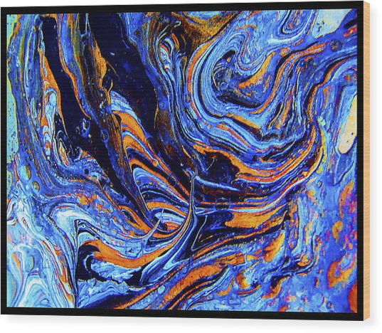 Life Flowing -abstract Acrylic Painting-mix Media #2 Wood Print
