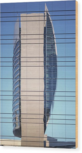 Abstract Architecture - National Bank Of Dubai Wood Print