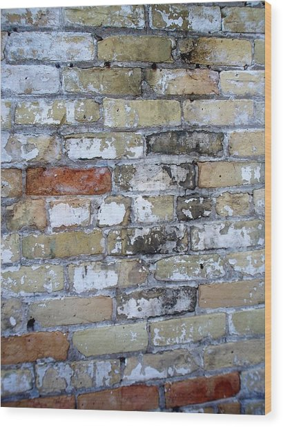 Abstract Brick 10 Wood Print