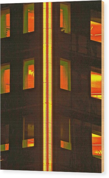 Abstract Building Wood Print by Gillis Cone