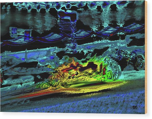 Abstract Carriage Ride Wood Print