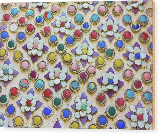 Abstract Ceramic Wall Background Wood Print by Wetchawut Masathianwong