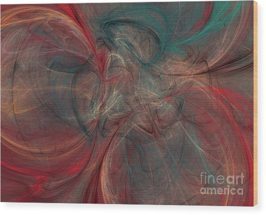 Abstract Chaotica 10 Wood Print