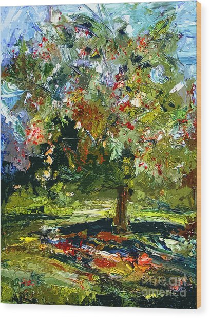 Abstract Cherry Tree  Wood Print