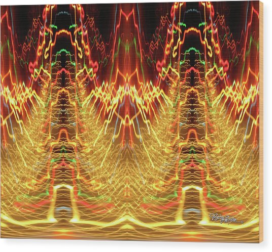 Abstract Christmas Lights #175 Wood Print