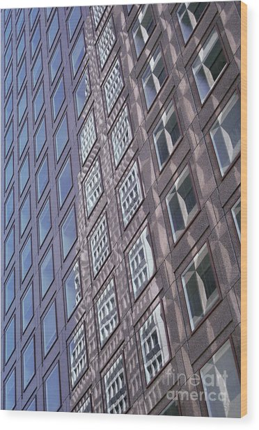 abstract cities architecture photograph - Glass Grid Wood Print