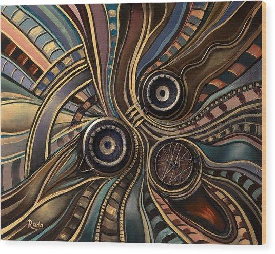 Abstract Clown Wood Print