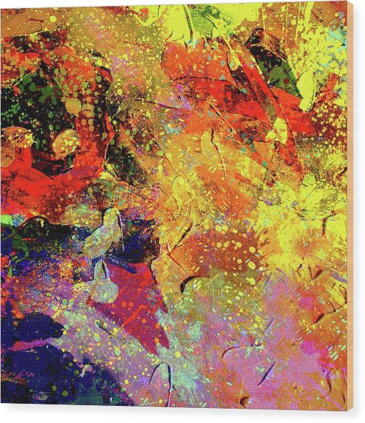 Abstract Composition  Wood Print