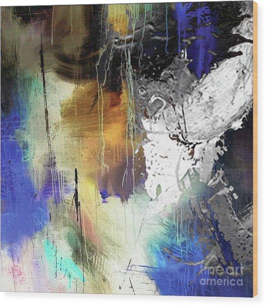 Abstract Dance Wood Print by Sadegh Aref
